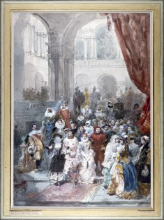 Study for a Painting of a Costume Ball Given by the Princess of Sagan