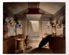 View of an Etruscan Tomb