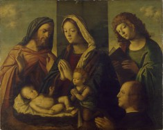 The Holy Family with the Young St. John the Baptist, St. John the Evangelist, and a Donor