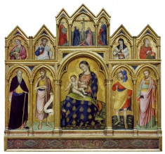 Madonna and Child, the Crucifixion, and Saints