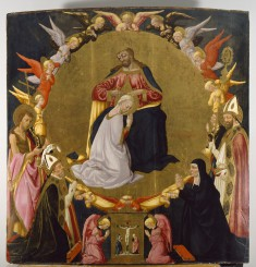 The Coronation of the Virgin with Angels and Four Saints