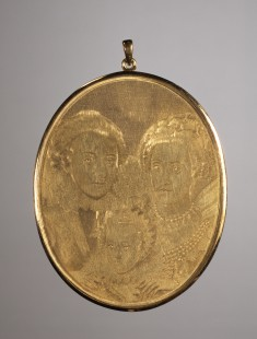 Medallion of the Elector Frederick V of the Rhine Palatinate and His Wife and Son