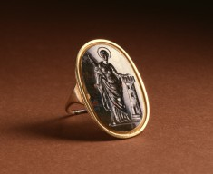 Ring with Intaglio of Saint Barbara