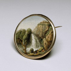 Brooch with a Landscape Scene