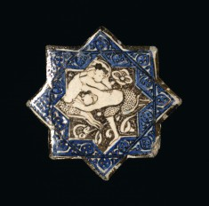 Star Tile with Wrestlers