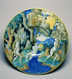 Plate with Apollo and Daphne