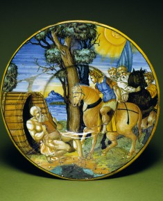 Plate with Alexander and Diogenes