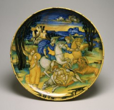 Dish with Lion Hunt