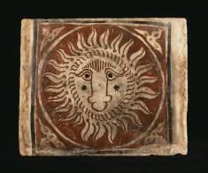Ceiling Tile (socarrat) with a Lion's Head