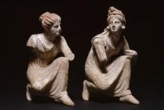 Crouching Women Playing Knucklebones