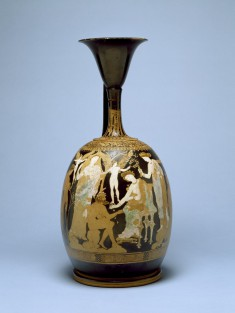 Lekythos with Knucklebone Players and Attendants