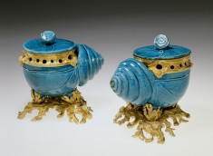 Pair of Shells Mounted as Containers