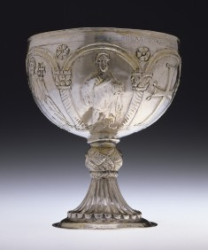 Chalice with Apostles Venerating the Cross