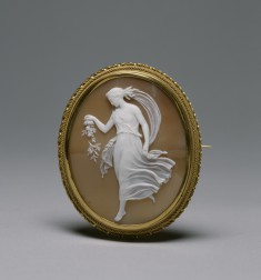 Brooch with Cameo of Spring after a relief by William Henry Rinehart