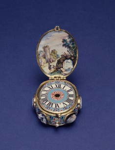 Enameled Watch with Cameos