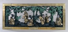 Transom from a Temple Depicting Scholars in a Bamboo Grove