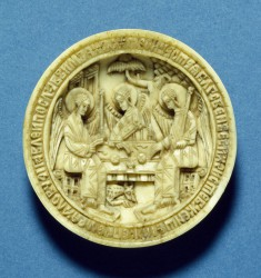 Fragment from a Pendant (Panaghiarion) with the Holy Trinity