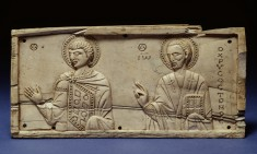 Unidentified Saint and Saint John Chrysostom