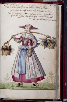 Leaf from Book of Italian Costumes
