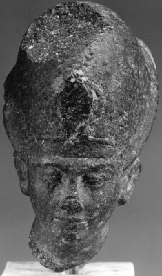 """Head of a Statue of Tutankhamen (?) with the """"Blue Crown"""""""
