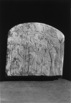 Stele with Ptah and Sakhmet Before Offerings