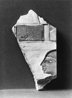 Wall Fragment with a Head to the Left