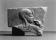 Relief Model with a Queen and Horus the Child