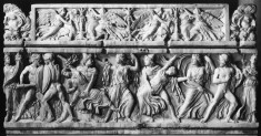 Sarcophagus Depicting Castor and Pollux Seizing the Daughters of Leucippus