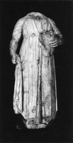Standing Figure of a Girl Holding a Bird