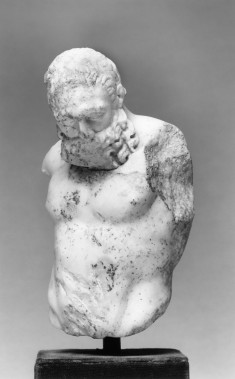 Head and Torso of a Figure, Possibly Herakles (?)