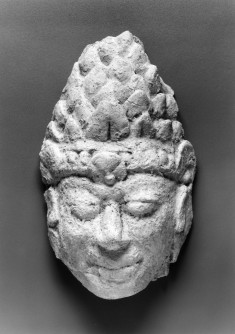 Head of a Crowned Figure