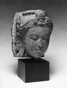 Fragmentary Head of Bodhisattva