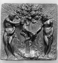 Panel with the Fall of Adam and Eve