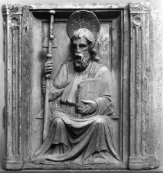 Relief from a Reredos with St. James the Greater