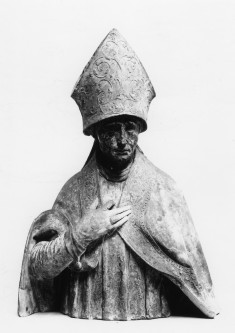 Portion of a Statue of a Bishop