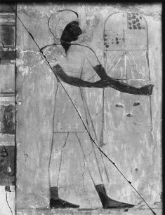 Wall Fragment with Man Carrying an Offering Table