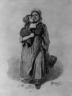 Peasant Woman and Child