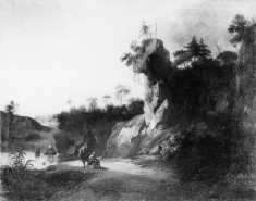 Landscape with Artists Sketching