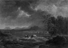 Mountain Landscape with Cattle