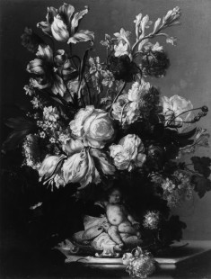 Flowers in a Vase with a Putto