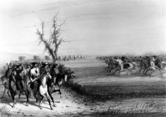 Threatened Attack- Approach of a Large Body of Indians