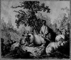 Young Shepherd and Flock