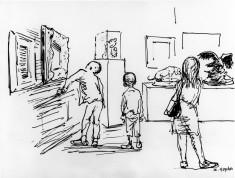 Gallery XIII, 3 school children