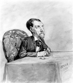 Man at Table/ Caricature of Jeweler