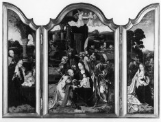 Triptych with the Adoration of the Magi, the Nativity, and the Rest on the Flight into Egypt