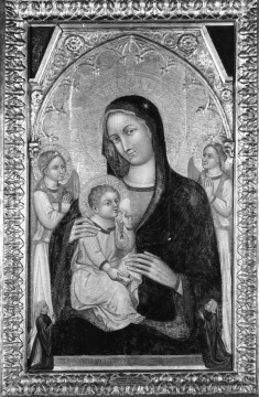 Madonna Nursing the Christ Child, with Angels and Two Donors