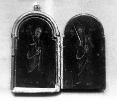 Triptych with Saints Andrew, Peter, and Paul and the Crucifixion