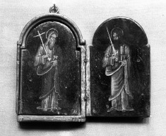 Triptych with Saints Andrew, Peter, Paul and Veronica Holding the Sudarium