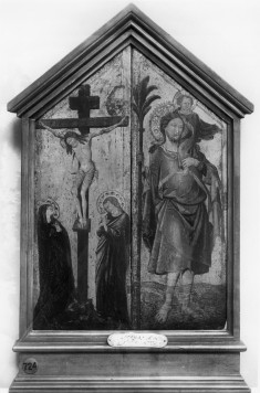 The Crucifixion and Saint Christopher