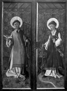 Exterior of a Triptych with Saints Lawrence and Leonard